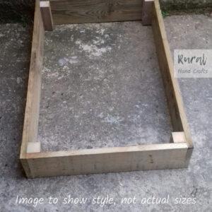 wooden raised bed 240x120cm