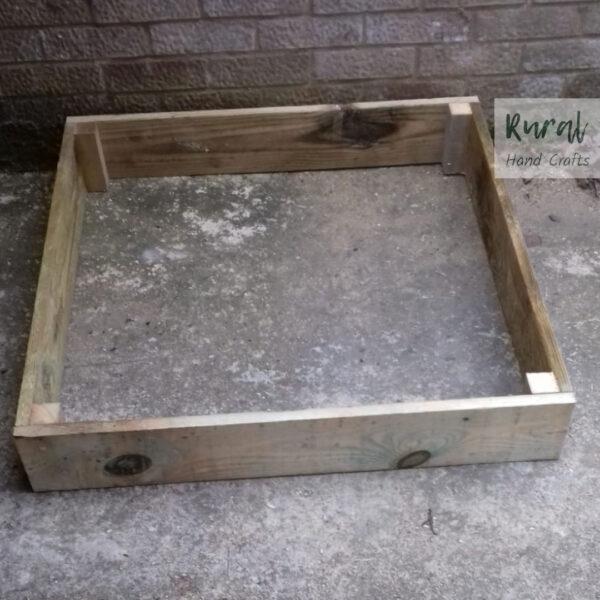 Wooden raised bed 90x90cm