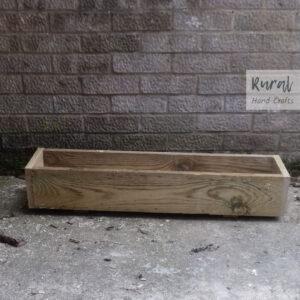 wooden trough planter 90cm x 19.5cm x 17.5cm