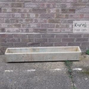 wooden trough planter 120 x 19.5 x 17.5cm