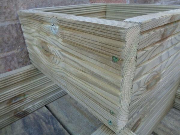 wooden corner planter