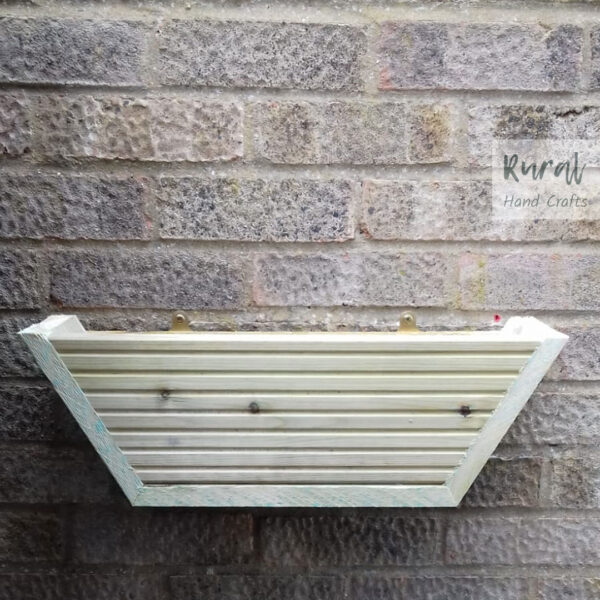 wooden hanging wall planter